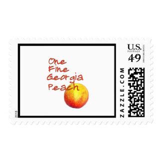 One Fine Georgia Peach Stamps