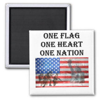 one flag one heart one nation USA Veterans Day Magnet