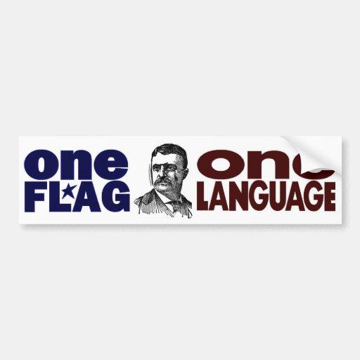 One Flag One Language Car Bumper Sticker