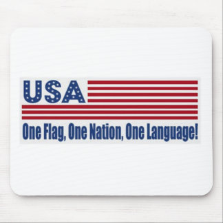 One Flag One Nation One Language Mouse Pad