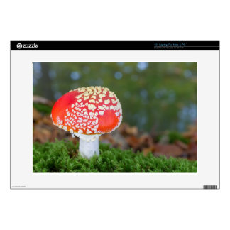 """One fly agaric with green moss in fall season decals for 15"""" laptops"""
