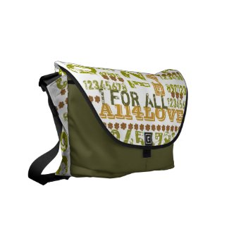 One for all and all for love Messenger Bag rickshawmessengerbag