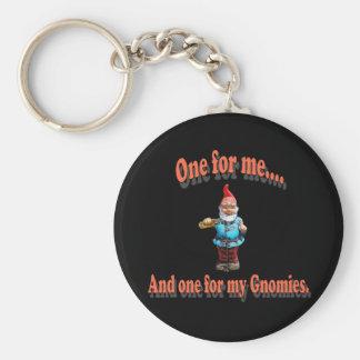 One For My Gnomies Basic Round Button Keychain