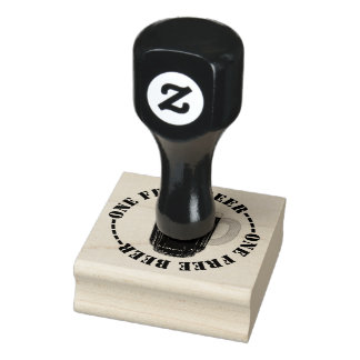 One Free Beer Rubber Stamp