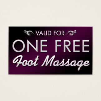 One Free Foot Massage Business Card