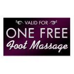 One Free Foot Massage Business Card Templates