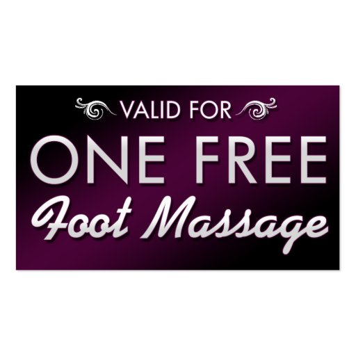 One Free Foot Massage Double-Sided Standard Business Cards (Pack Of ...