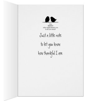 One Friend Understands You Cute Bird Quote Card