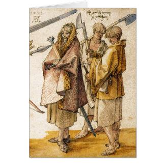 One Gallòglach and Two Kerns - Albrecht Dürer Card