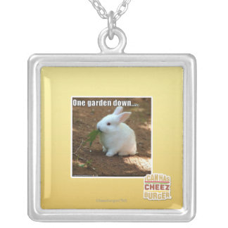 One Garden Down� Silver Plated Necklace