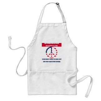 One Generation of Peace, End the Wars Flag Adult Apron