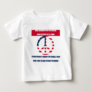 One Generation of Peace, End the Wars Flag Baby T-Shirt