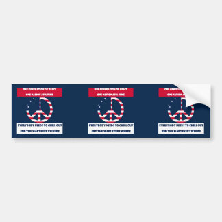 One Generation of Peace, End the Wars Flag Bumper Sticker