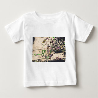 One Giant Leap For Mankind...spacewalk watercolor Baby T-Shirt
