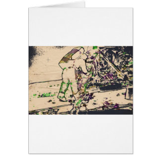 One Giant Leap For Mankind...spacewalk watercolor Greeting Card