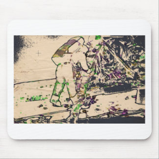 One Giant Leap For Mankind...spacewalk watercolor Mouse Pad