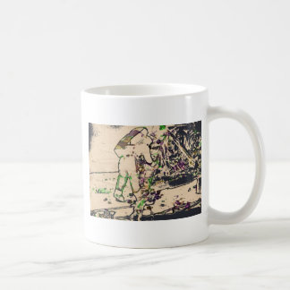 One Giant Leap For Mankind spacewalk watercolor Mugs