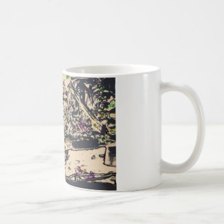 One Giant Leap For Mankind...spacewalk watercolor Classic White Coffee Mug