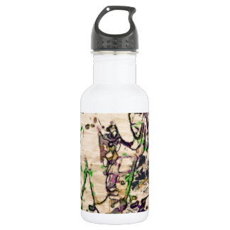 One Giant Leap For Mankind...spacewalk watercolor 18oz Water Bottle