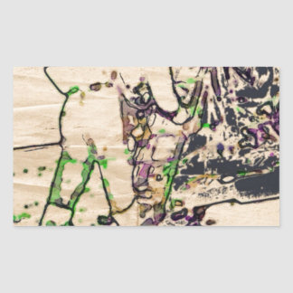 One Giant Leap For Mankind...spacewalk watercolor Rectangular Sticker