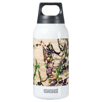 One Giant Leap For Mankind...spacewalk watercolor 10 Oz Insulated SIGG Thermos Water Bottle