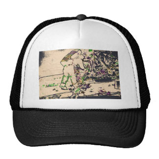 One Giant Leap For Mankind...spacewalk watercolor Trucker Hat