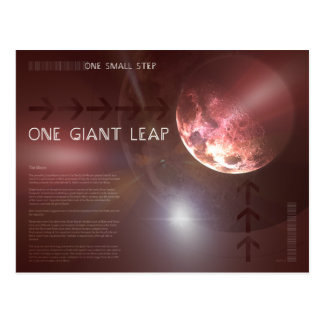One Giant Leap Postcard