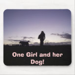 One Girl and her Dog! Mouse Pad