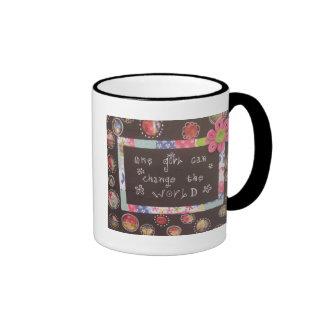 One Girl Can Change the World Ringer Mug