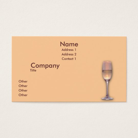 One Glasses Business Card