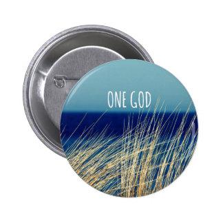 One God 2 Inch Round Button