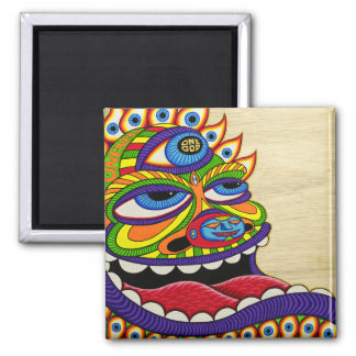 One God 2 Inch Square Magnet