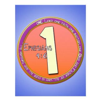 ONE GOD Ephesians 4:6 Letterhead Design