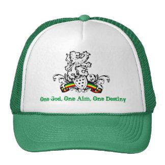 One God, One Aim, One Destiny green Mesh Hats