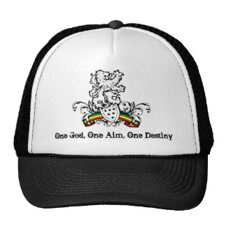 One God, One Aim, One Destiny Mesh Hat