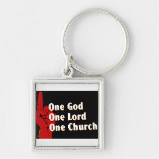 One God, One Lord, One Church Christian gift Keychain