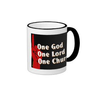 One God, One Lord, One Church Christian gift Coffee Mug