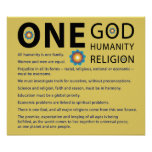 One God Poster