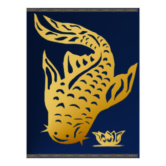 One Gold Catfish  Poster