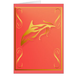 One Gold Dolphin Card