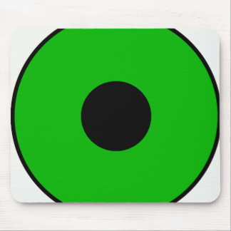 One Green Eye Mouse Pad