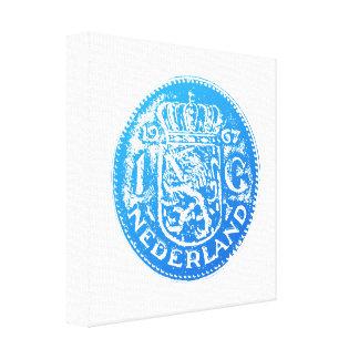 One Guilder 1 Gulden (blue) Canvas Print