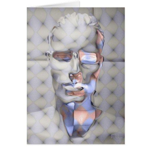 one half  man enlightening (card)