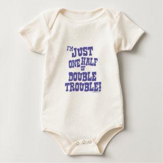 One Half of Double Trouble Baby Bodysuit