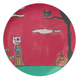 One Halloween Night Plate