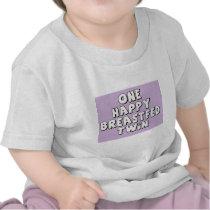 One Happy Breastfed Twin Tee Shirt