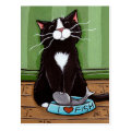One Happy Kitty - Cat Art Postcard