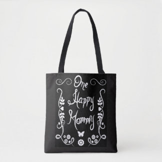One Happy Mommy Pretty Flourish Tote Bag