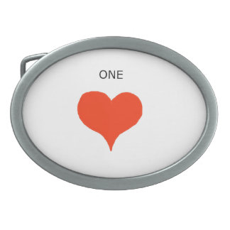 """One Heart"" Belt Buckles"