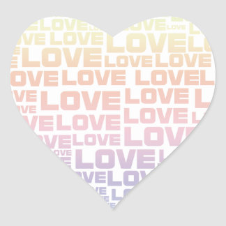 One Heart Big Love Heart Sticker